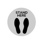 Stand Here - Floor Decal - 12