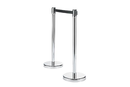 Chrome Stanchion - With 8' Retractable Belt