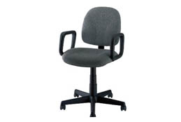 Gray Gaslift Chair with Arms
