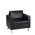 Naples Chair, Powered - Black