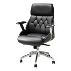 Cupertino Mid Back Chair - Black Vinyl