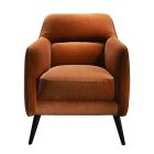 Valencia Chair - Spice Orange Velvet