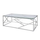 Alondra Cocktail Table - Chrome/Glass