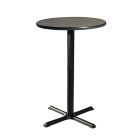 Madison Bar Table with Black Base - Gray Acajou