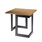 Black Geo End Table - Wood