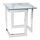 Geo End Table - Chrome