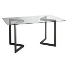 Geo Rectangle Conference Table - Black