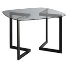 Geo Square Round Conference Table - Black - Rounded Square