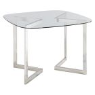 Geo Square Round Conference Table - Chrome - Rounded Square