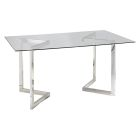 Geo Rectangle Conference Table - Chrome