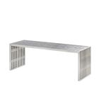 Regis Bench/Table - Brushed Metal