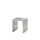 Regis End Table/Ottoman - Brushed Metal
