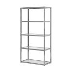 Posh Shelving w/ Chrome Frame - White