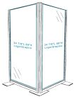 Corner Divider with Exterior Graphic - Translucent