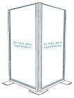 Corner Divider with Exterior Graphic - Opaque - Single-sided