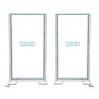 Freestanding Divider - with Opaque Graphic (Double-sided)